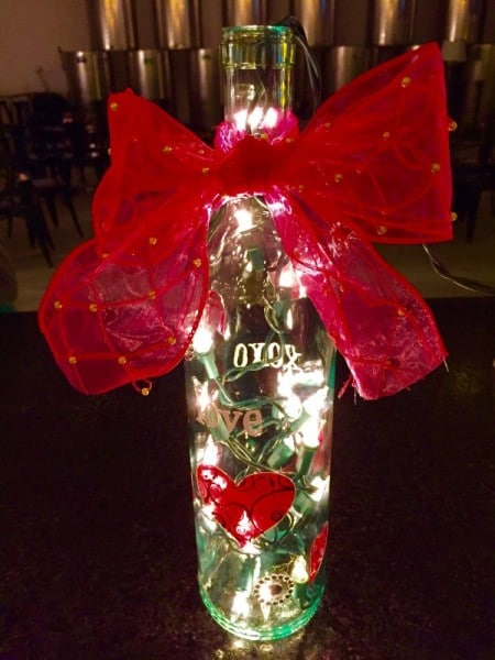 UnWined With Craft Night Lighted Valentines Day Wine