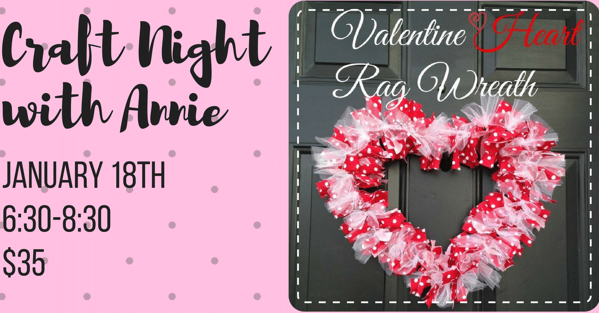 Craft Night With Annie Valentine S Day Rag Wreaths Soldier Creek